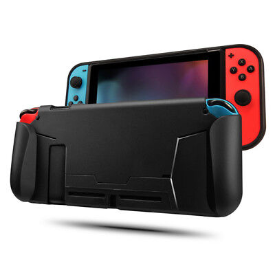 Black Protective TPU Case For Nintendo Switch Grip Cover Shockproof AbsorptionPL