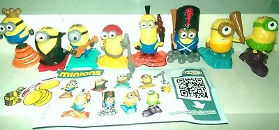 Kinder 2015, Minions, Russia, yellow Dracula variant, compl. set with all Bpz.