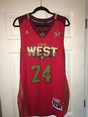 64953e8a2 Kobe Bryant 2011 NBA All Star Game Jersey Men L Authentic Adidas Sewn Mamba