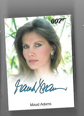 James Bond  Auto Autograph Maud Adams as Octopussy Full Bleed