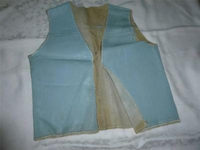 Vintage Pale Blue Child's Leather Cowboy Vest