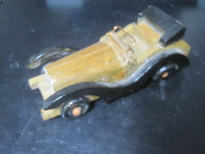 """VTG Handmade Old Model Wooden Car Antique Classical Car Toy 5 3/4"""" x 2 1/4"""" x 2"""""""