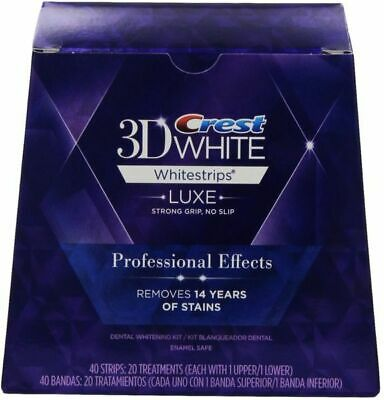 Crest3D Professional Effects Teeth Whitening Whitestrips 5 Pouches = 10 Strips