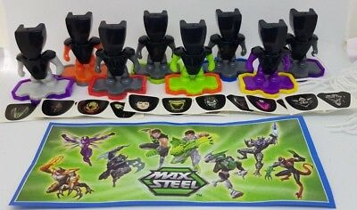 Kinder 2018, Max Steel 3, Mexico, Mexiko, compl. set with all Bpz