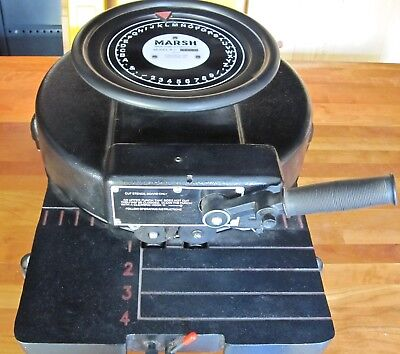 """Marsh Hand Stencil Machine, 1"""" Characters, with roller, ink, and oil boards"""