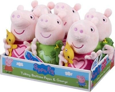 Peppa Pig Talking Bedtime Peppa Or George Children S Soft Toy 18 Months