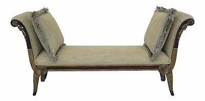 F30463EC: French Louis XVI Style Upholstered Window Seat Bench