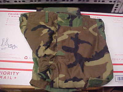 Small Long Pants Trousers Hot Weather Woodland Camouflage Combat BDU CCU loc#24