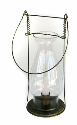 W.T. Kirkman No. 94 Candle Lamp - Antiqued Brass Civil War Lantern