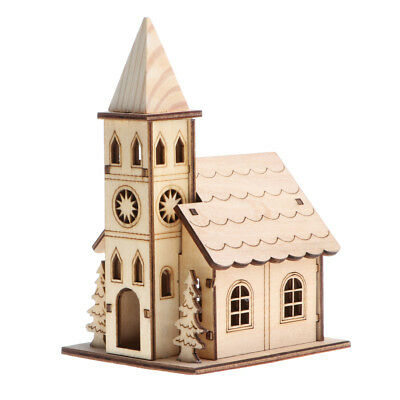 3D Wooden Puzzle Fun Toy Church House Model Building Construction Kit Jigsaw