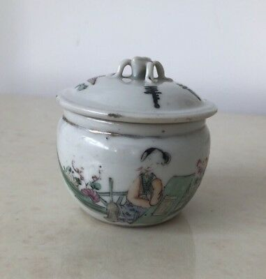 Ancien Petit Pot Couvercle En Porcelaine De Chine / Antique CHINESE PORCELAIN