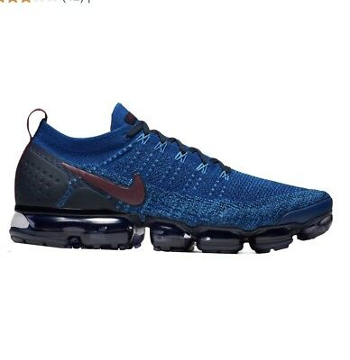 Mens Nike Air Vapormax Flyknit 2 Running Shoes Blue/Black Size 10.5 BRAND NEW!!