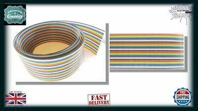 1m 40 Way 40 pin 1.27mm Flat Color Rainbow Ribbon IDC Cable Wire