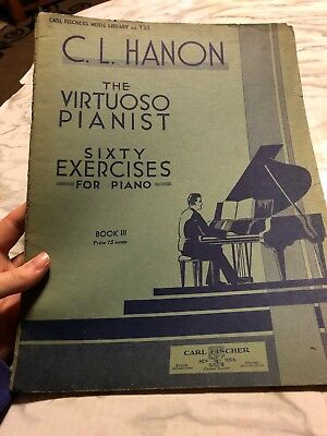 Hanon the Virtuoso Pianist 60 Exercises for Piano Book 3 Sheet Music Fischer