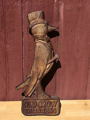 RARE ANTIQUE ORIG LATE 1800s EARLY 1900s OLD CROW WHISKEY TRADE SIGN PUB TAVERN