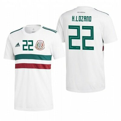 f51286cd9aa Adidas Hirving Lozano Mexico 2018 World Cup Away Authentic Player Jersey  Patches