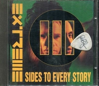 EXTREME III sides to every story Euro CD + Guitar pick 1992