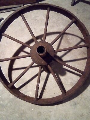 1912 Metal Wheelbarrow Wheel