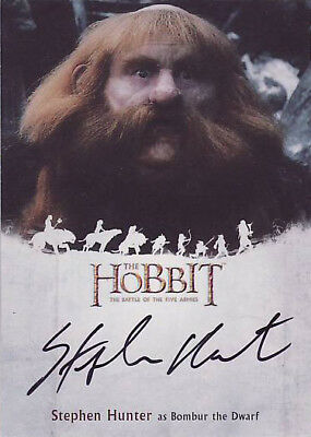 Hobbit Battle Five Armies Stephen Hunter Bombur The Dwarf Autograph Card Sh