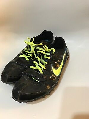 buy online 70dda 1e08c Nike Zoom Rival S Men s Size 9 Track Cleats Black neon Sprint Shoes 456812-