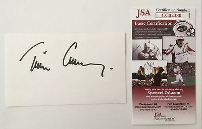Oliver Stone Signed Autographed 3x5 Card Jsa Certified Cards & Papers Entertainment Memorabilia