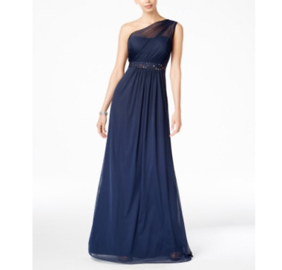 Adrianna Papell Embellished One-Shoulder Gown MSRP $189 Size 16 # 2B 21 Blm