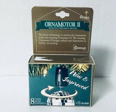 ORNAMOTOR II ROTATING ORNAMENT MOTOR Turning Display Hook Holder by ROMAN NIB