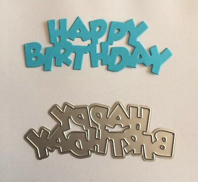 Metal Cutting Die Suitable for Sizzix Cuttlebug machines HAPPY BIRTHDAY