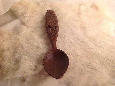 Folk Art Carved Wood Spoon, Norway, Norwegian