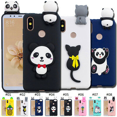 For Xiaomi Soft Cute Back Silicone Skin TPU Shell 3D Fashion Rubber Case Cover
