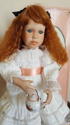 "Susan Krey Porcelain Doll Polly 15"" from Polly's Tea Party Doll Collection"