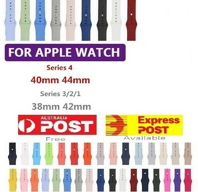Silicone Replacement Strap Band Apple Watch Series 4 3 2 iWatch 38/40mm 42/44mm