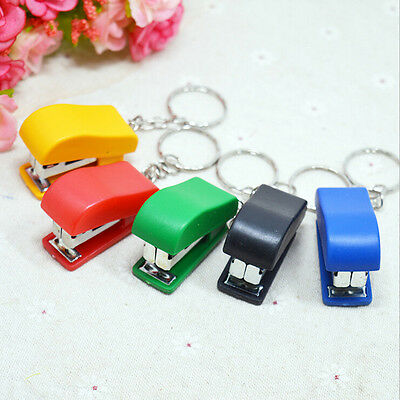 Portable Keychain Mini Cute Stapler For Home Office School Paper Bookbinding FHK