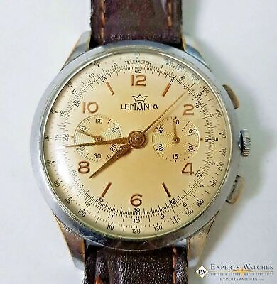 Serviced Vintage Officers Lemania Chronograph cal 1270 (320 / 321) 1950s Watch