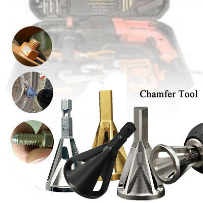 Stainless Steel Deburring External Chamfer Tool Repairs Damaged Bolts Drill Bit
