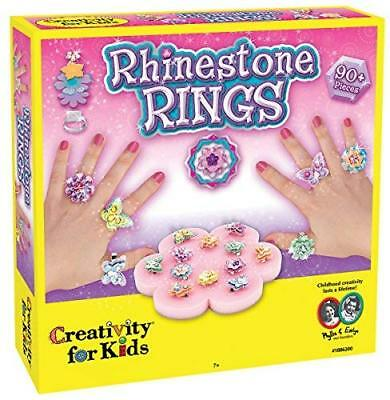 Rhinestone Ring Making Kit - Makes 12 Flower and Butterfly Rings
