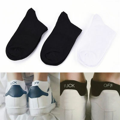 Fashion  Men Women Fuck-off Design Print Funny Women Men Knit Sport Socks Hot