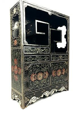 Chinese Wooden Collectors Shelves / Shelf Unit / Cabinet Snuff Bottle Display
