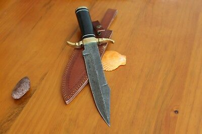 "Custom Handmade Damascus 14"" Long Full Tang American macarta,Hunting Bowie Knife"