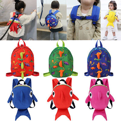 Toddler Anti-Lost Dinosaur Shark Backpack Safety Walking Harness Leash For Kids
