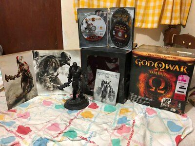 GOD OF WAR OMEGA COLLECTION PS3 LIMITED STEELBOOK 5 GAMES Statue kratos sideshow