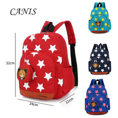 US Cute Toddler Kids Boy Girl Star Rucksack Backpack School Nursery Shoulder Bag
