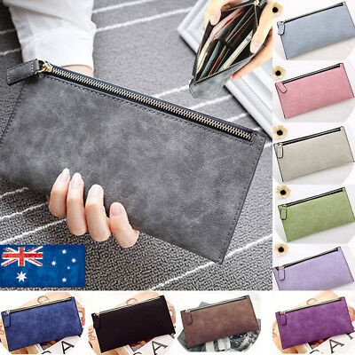 Fashion Women's Girls Leather Wallet Card Holder Phone Purse Long Handbag 2019