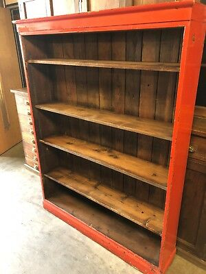Old School Pitch Pine Bookcase