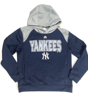 detailed look 9b9f1 8540c NEW YORK YANKEES Majestic MLB Classic Pullover Hoodie Pink ...