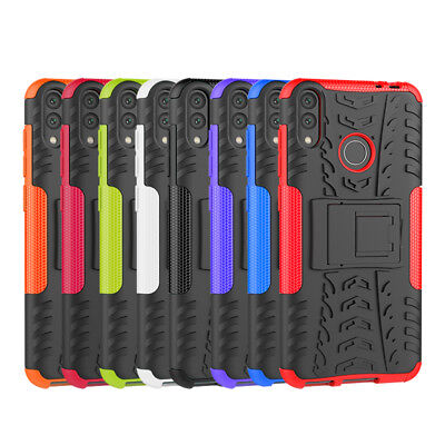 Rugged Hybrid Armor Shockproof Hard Case Kickstand Cover For Huawei Honor 8C