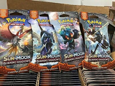 Pokemon SM3 BURNING SHADOWS Sealed 36 packs-10 cards=Entire Booster Box ENGLISH