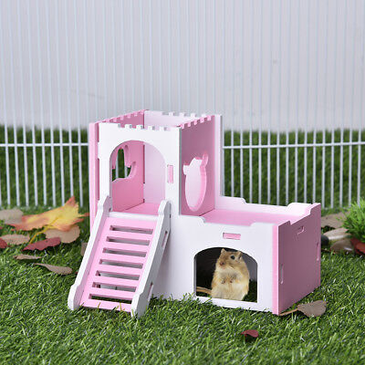 Pet Hamster Rat Guinea Pig Small Animal Castle Sleeping House Nest Exercise