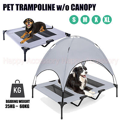 Heavy Duty Pet Bed Dog Trampoline Hammock Mesh Frame Cat Puppy w/o Canopy Cover