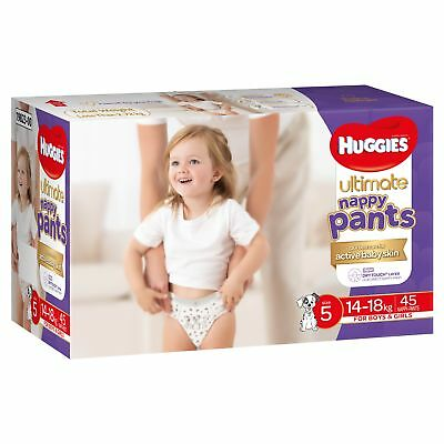 Huggies Ultimate Nappy Pant - Walker - Size 5 /14-18kg - Jumbo 45 Pack